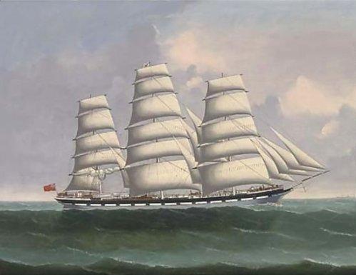 Lai Fong, The Coolie Ship Avon Under Full Sail, c.1898